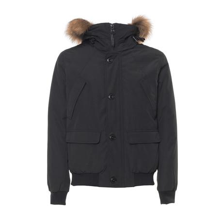 Short Hooded Jacket // Black (S)