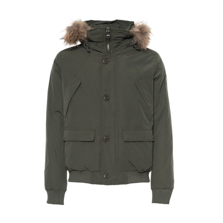 Short Hooded Jacket // Army Green (S)
