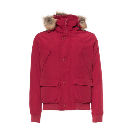 Short Hooded Jacket // Red (S)