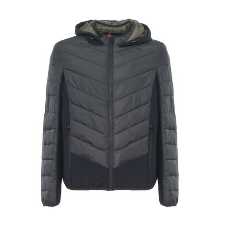 Quilted Jacket // Gray, Black (S)