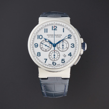 Ulysse Nardin Marine Chronograph Manufacture Automatic // 1503-150/60 // Pre-Owned