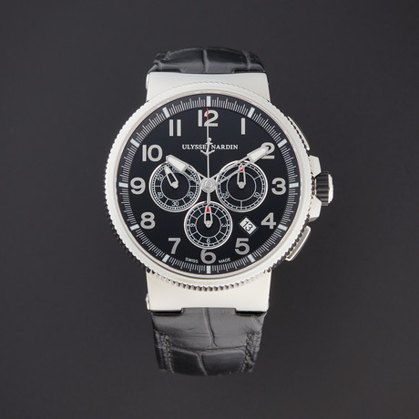 Ulysse Nardin Marine Chronograph Manufacture Automatic // 1503-150/62 // Pre-Owned