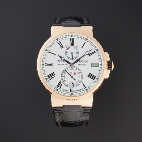 Ulysse Nardin Marine Chronometer Automatic // 1186-122/40 // Pre-Owned