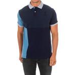 Corta Polo // Blue + Gray + Navy (Large)