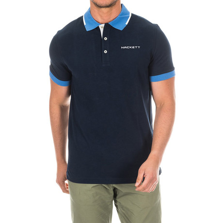 Golf Polo // Navy + Blue (Small)
