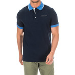 Golf Polo // Navy + Blue (Large)
