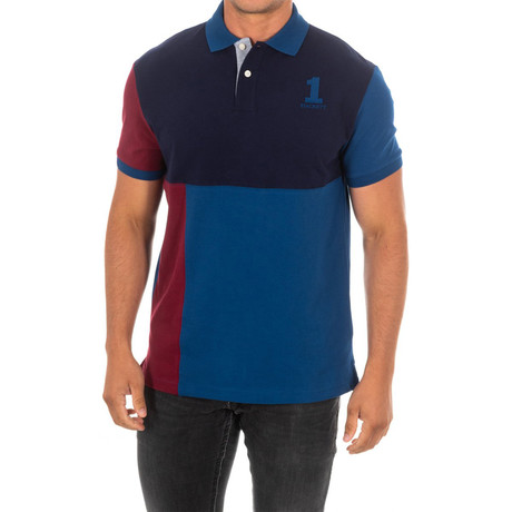 Corta Polo // Blue + Red + Navy (Small)