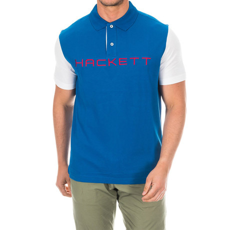 Logo Golf Polo // Cobalt Blue + White (Small)