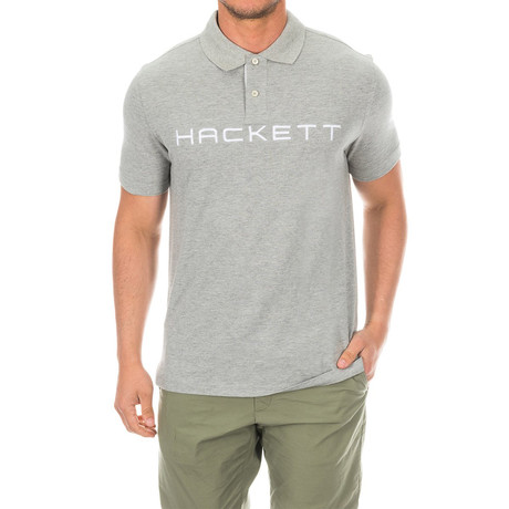 Logo Golf Polo // Heather Gray (Small)