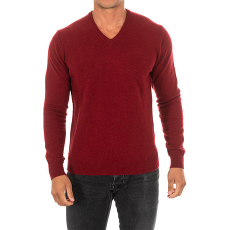 V-Neck Sweater // Garnet (Small)