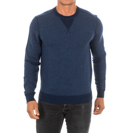 Elbow Patch Sweater // Navy Blue (Small)