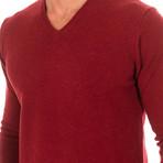V-Neck Sweater // Garnet (X-Large)