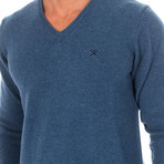 V-Neck Sweater // Petrol Blue (XX-Large)