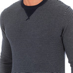 Striped Sweater // Navy + White (XX-Large)
