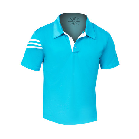 Warriors & Scholars // Driver Fitness Tech Polo // Turquoise (S)