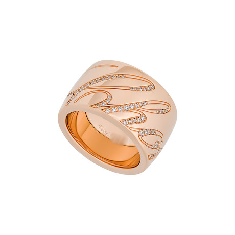 Chopard Chopardissimo 18k Rose Gold Diamond Revolving Ring // Ring Size: 5.75