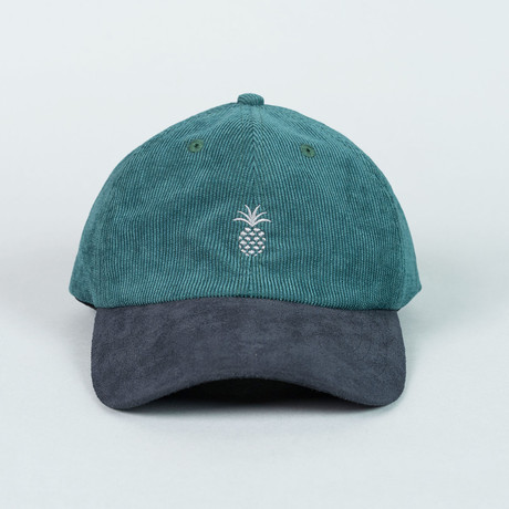 Two-Tone Cap // Pine Green + Midnight Suede