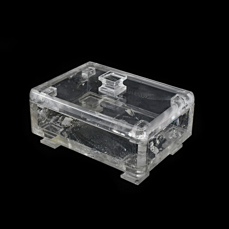 Clear Quartz // Natural Crystal Box // Two Piece