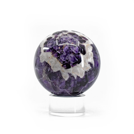 Flower Amethyst // Natural Crystal Sphere