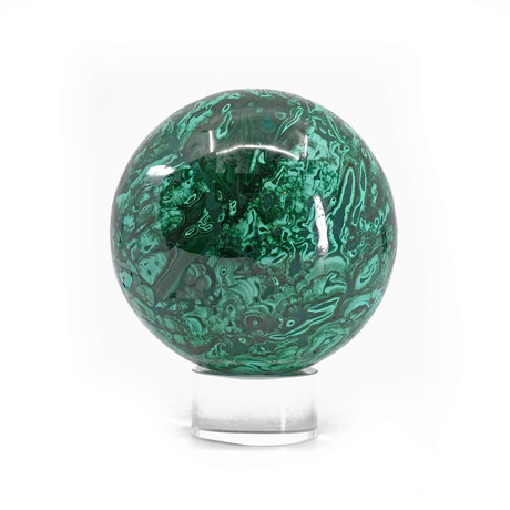 Malachite // Natural Crystal Sphere