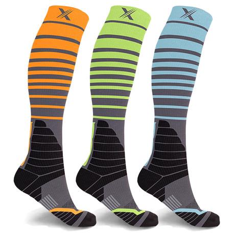 Copper Infused Elite Compression Socks // 3-Pairs (Small / Medium)