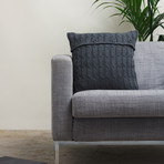 Pillow Cover // Cable Knit (Dark Gray)