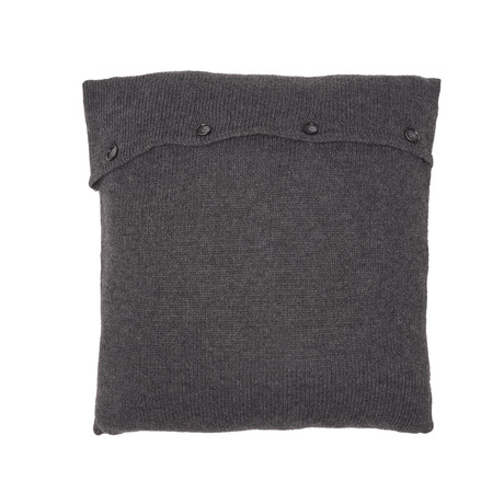 Pillow Cover // Knit (Dark Gray)