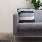 Pillow Cover // Colorblock Knit (Medium Gray)