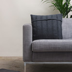 Pillow Cover // Stripe Knit (Dark Gray)