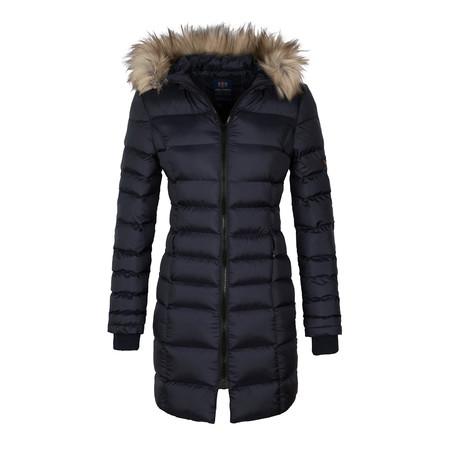 Hooded Winter Coat // Navy (S)