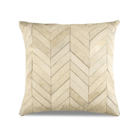 "Chevron Pillow Cover // Neutral (13""L x 21""W)"