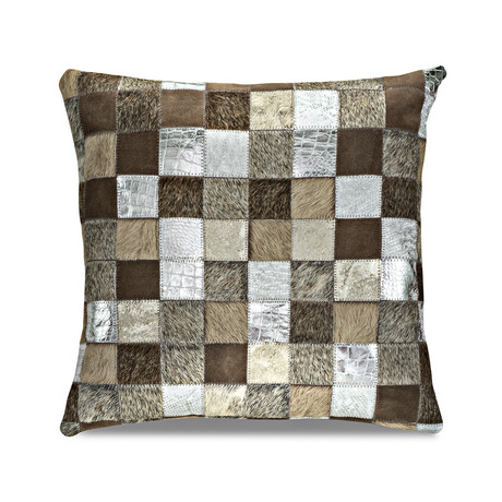 "Samba Pillow Cover // Multi-Texture Argent (13""L x 21""W)"