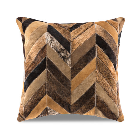 "Chevron Pillow Cover // Multi-Texture Grizzly (13""L x 21""W)"
