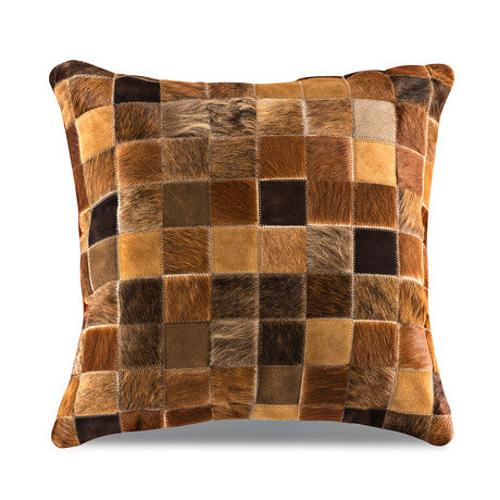 "Samba Pillow Cover // Multi-Texture Grizzly (13""L x 21""W)"