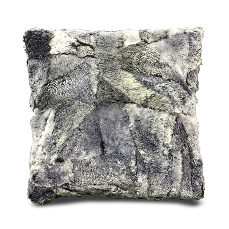 "Bariloche Pillow Cover // Two Tones Pewter (13""L x 21""W)"