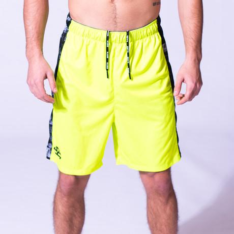 Stretch Knit Shorts // Neon Yellow (XXS)