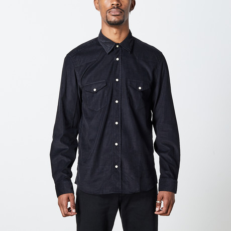 Men's Cord Woven Top // Black (S)