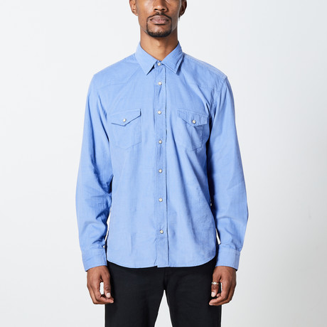 Men's Cord Woven Top // Blue (S)