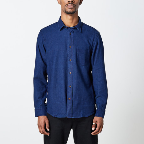 Men's Indigo Woven Top // Blue (S)