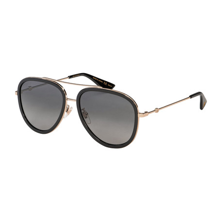 Men's Pilot Aviator Sunglasses // Gold + Black