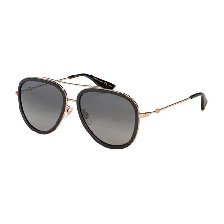 Men's Pilot Aviator Sunglasses // Gold + Black