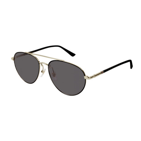 Men's Web Aviator Pilot Sunglasses // Black