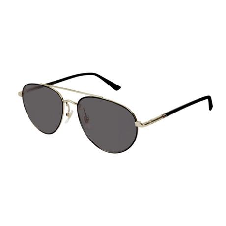Men's Web Aviator Pilot Sunglasses // Black