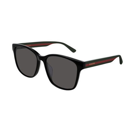 Men's Sylvie + Web Square Sunglasses // Green