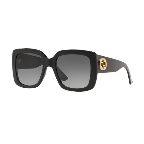 Women's GG Square Sunglasses // Black