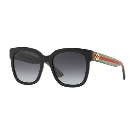 Men's Web Rectangular Sunglasses II // Green + Red
