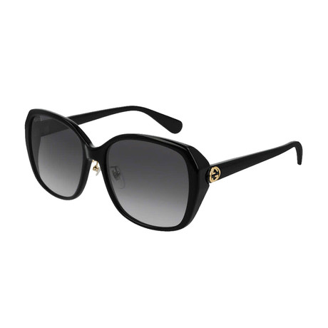 Women's GG Oversized Sunglasses // Black
