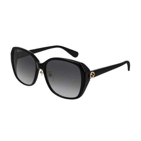 Women's GG Oversized Sunglasses // Black