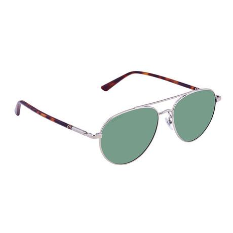 Men's Web Aviator Pilot Sunglasses II // Havana Brown