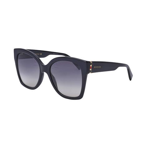 Women's Web Oversized Sunglasses // Black